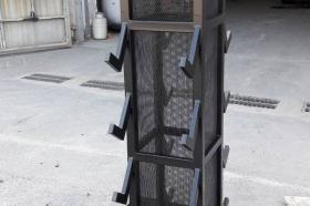 Торговое оборудование - металлическая стойка-стеллаж