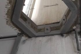 Сварка металлоконструкции усиления отверстия в перекрытии
