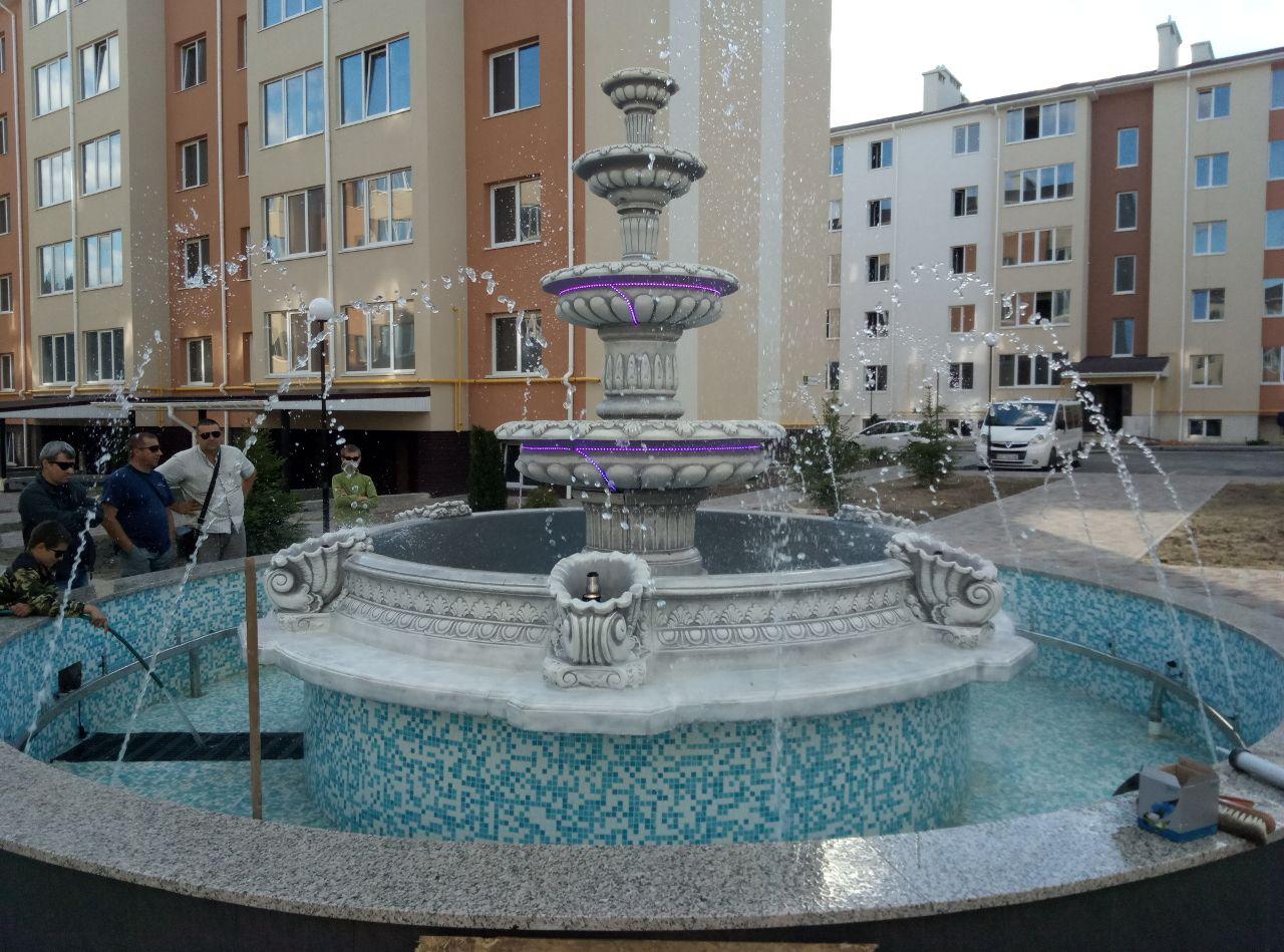 Запуск фонтана в работу