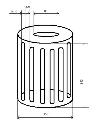 Техническое задание (эскис) на изготовление фильтра